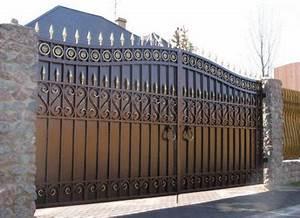 Portail Fer Forgé Plein : fabricant portail portillon grille cl ture en fer ~ Dode.kayakingforconservation.com Idées de Décoration