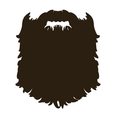 Beard Clip Beard Illustrated Front Beards Cricut