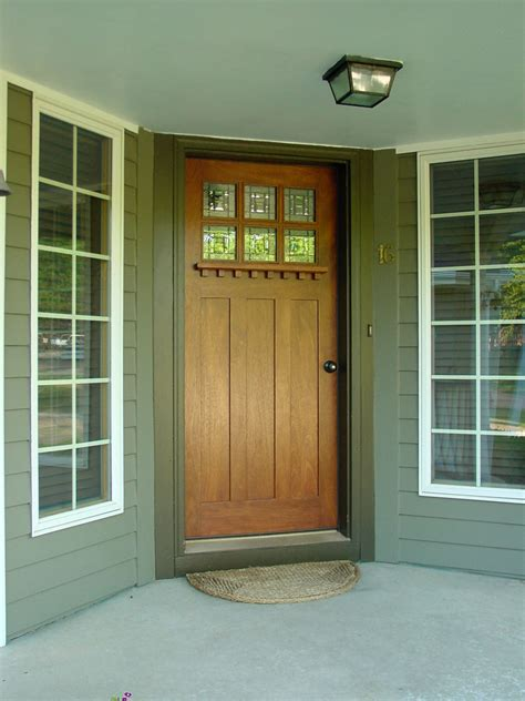 exterior front doors arts and crafts doors craftsman style doors mission