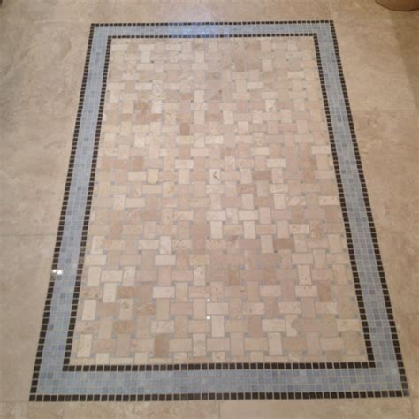 tile rug inlays images  pinterest floors