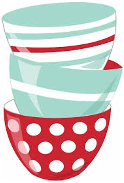 Baking Clipart Kitchen Bowls Clip Cooking Recipe