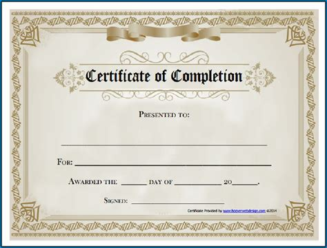 fillable certificate templates