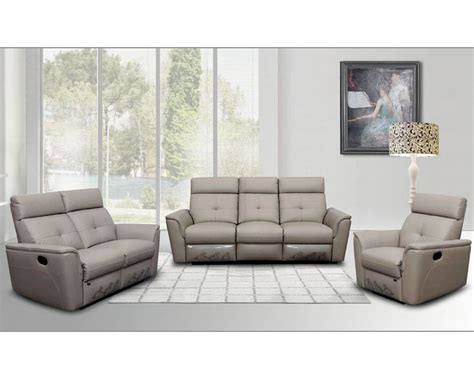 Style Sofa Sets by Italian Leather Sofa Set In Modern Style Esf8501set