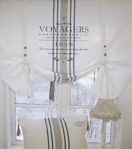Raffrollo Landhaus Shabby : raff gardine ocean rollo 160x100 wei shabby vintage ~ Watch28wear.com Haus und Dekorationen