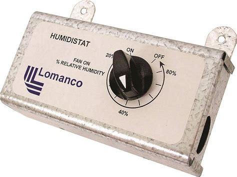 lomanco attic fan thermostat lomanco humid humidistat for use with power vent aluminum
