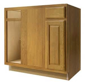 value choice 36 quot huron oak reversible blind corner base cabinet at menards 174
