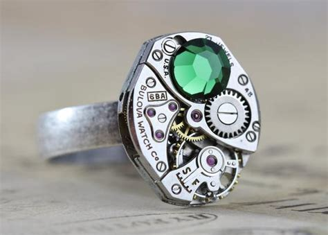 mens steampunk ring steampunk jewelry unique ring personalized