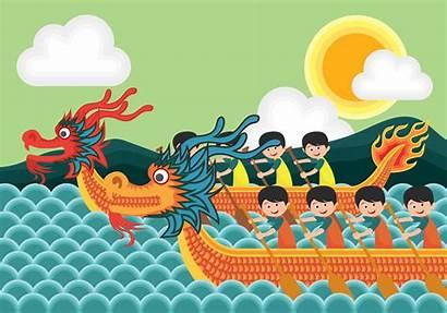 Dragon Boat Festival Vector Illustration Water Vecteezy