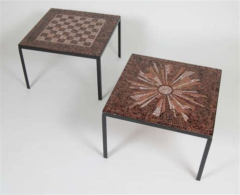 glass mosaic tile side tables at 1stdibs