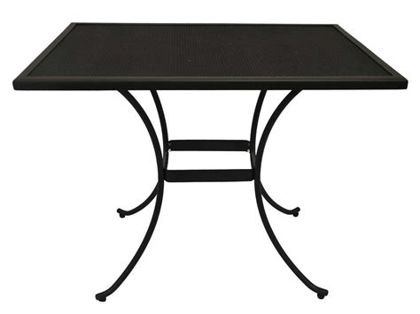 metal mesh top patio table rectangular mesh patio table woodard 280047 mesh top
