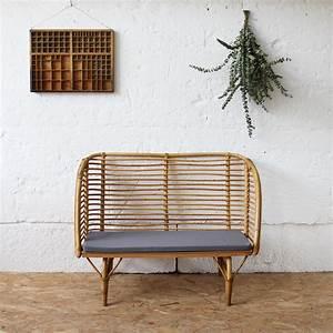 Petit Banc D Entrée : mobilier vintage banc rotin enfant vintage ann es 50 ann es 60 atelier du petit parc ~ Teatrodelosmanantiales.com Idées de Décoration