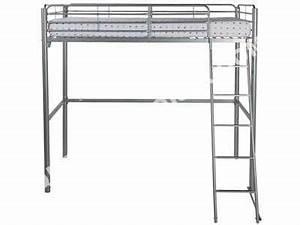Lit mezzanine conforama 140 Table de lit