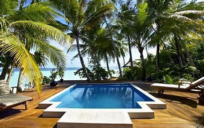 Pool Swimming Tahiti Desktop Pc Widescreen