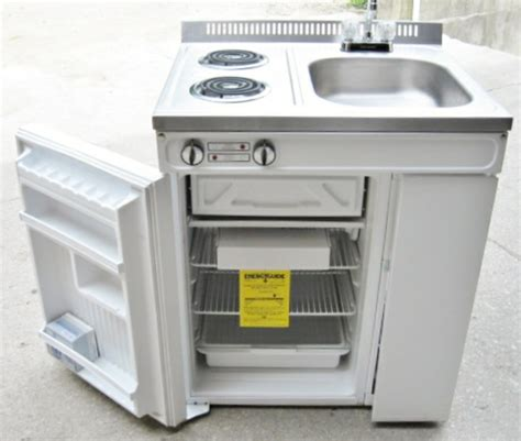 sink and stove combo woods compact kitchen 2 element stove refrigerator sink