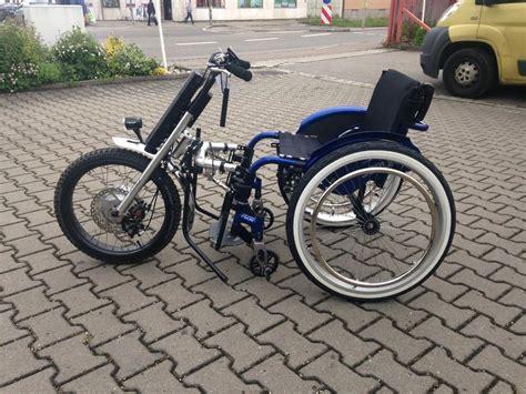 rollstuhl mit motor dreirad mit pedelec und weitere reha technik in augsburg