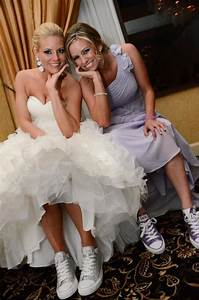 reception shoes weddingbee photo gallery With wedding dress with sneakers