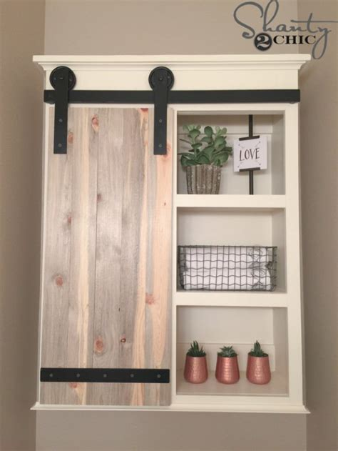 farmhouse sliding door cabinet 31 brilliant diy decor ideas for your bathroom