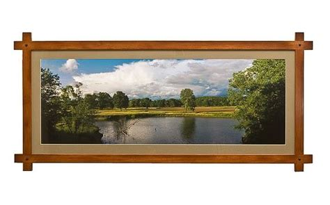 hand  picture frame adirondack style panoramic