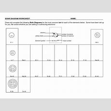 18 Best Images Of Bohr Diagram Worksheet  Bohr Model Worksheet Answers, Diagram Of The First 20