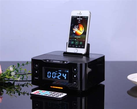 android station home snooze bluetooth speaker clock station for
