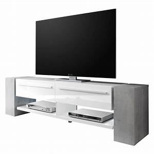 Tv Lowboard Beton : lowboard wei hochglanz preisvergleich die besten angebote online kaufen ~ Indierocktalk.com Haus und Dekorationen
