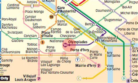 Olympiades station map - Paris Metro