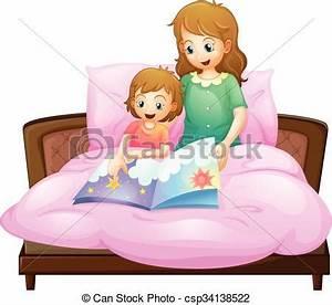Bett Für 2 Jähriges Kind : vektor illustration von geschichte bett schlafenszeit mutter erz hlen kind csp34138522 ~ Markanthonyermac.com Haus und Dekorationen