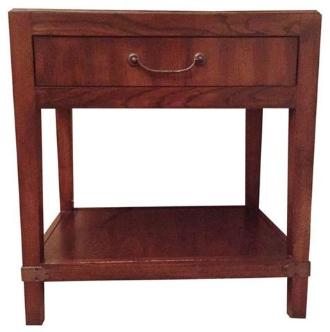 hickory chair side table walnut modern