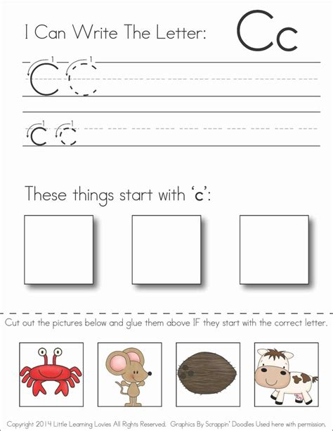 collections of free letter c worksheets easy worksheet