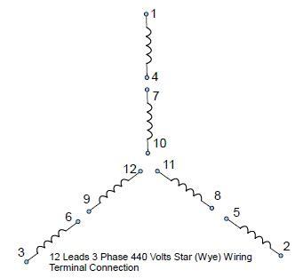 Wiring Diagram For 12 Lead 480 Volt Motor by 12 Lead 480v Motor Wiring Diagram Impremedia Net