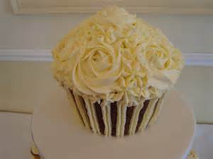 Wedding Giant Cupcake Cake