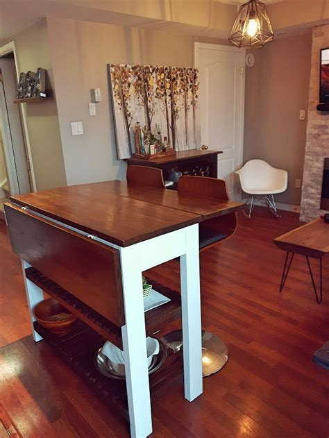 diy drop leaf kitchen island cart bachelor   budget
