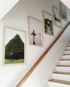 Fotos Aufhängen Ideen : fotowand selber machen wandgestaltung im treppenhaus ~ Lizthompson.info Haus und Dekorationen