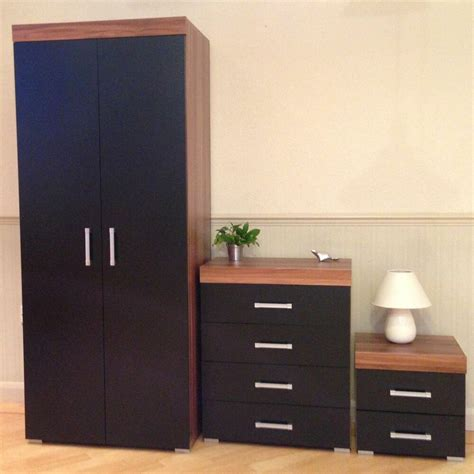 Black Set Of Drawers by Bedroom Furniture Set Black Walnut Wardrobe 4 Drawer