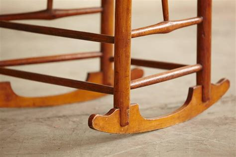 early american ladder back rocking chair with seat