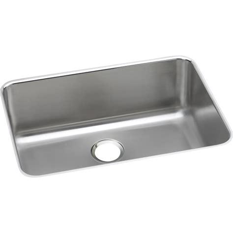 single basin stainless steel sink shop elkay gourmet 18 5 in x 26 5 in single basin