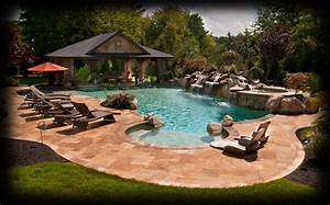 Image gallery inground pool landscaping ideas for Inground swimming pool designs ideas