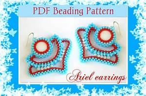 Diy Beading Pattern Ariel Earrings    Pdf Tutorial With