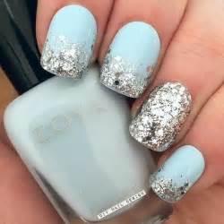 Multicolored glittery spring nails