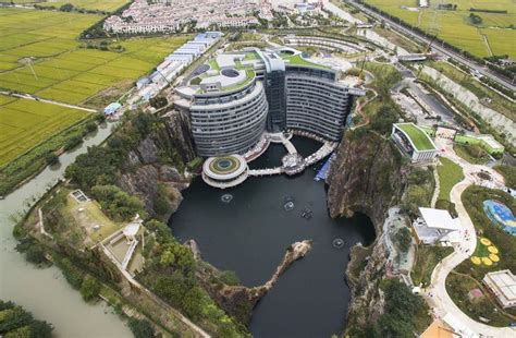 An aerial view of the luxury hotel InterContinental ...