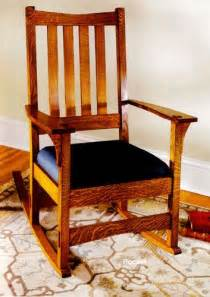 Stickley Rocking Chair Plans by Craftsman Rocking Chair Woodworking Plan Woodworking