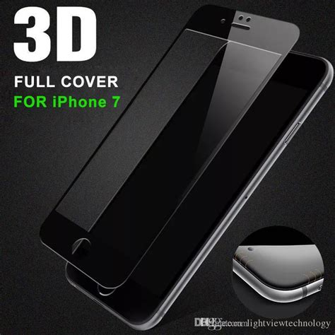 750x1334 3d color glass iphone for iphone 7 7 plus 0 2mm 3d screen curved tempered