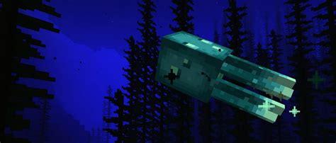 minecraft  glowing squids    caves cliffs snapshot pc gamer
