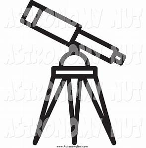 Astronomy Black and White Clipart