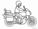Coloring Motorcycle Pages Police Drawing Wheeler Printable Davidson Harley Easy Truck Getdrawings Cool2bkids Getcolorings sketch template