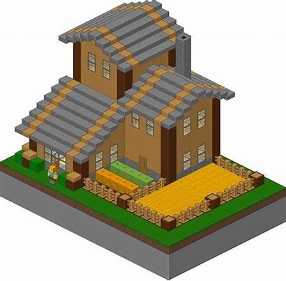 Minecraft Pixel Houses Isometric Medieval Blueprints Cool