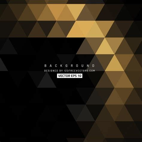Abstract Black And Gold Background Png by Black Gold Triangle Background Design Gold Background