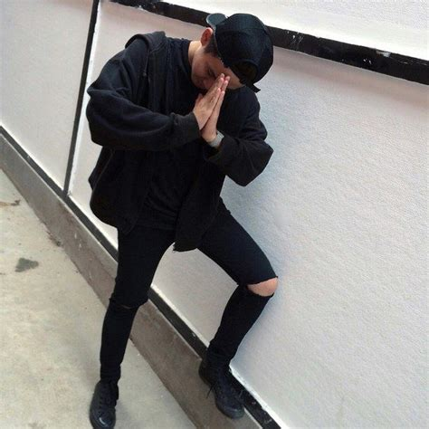 All black outfit boy tumblr grunge aesthetic - Buscar con ...