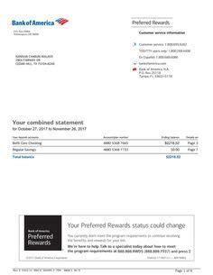 bank statement bank america   fake documents