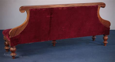 thc mahogany billiard seat  couch  antiques